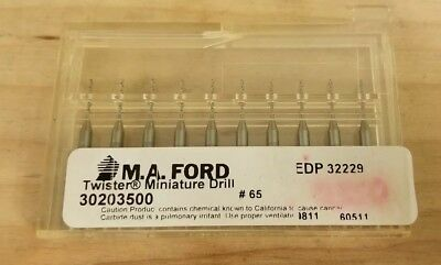 (10 Pack) M.A. Ford #65 Carbide Twister Drill