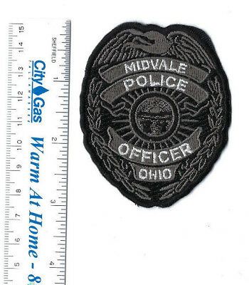 Midvale (Tuscarawas County) OH Ohio Police OFFICER badge-style patch NEW!