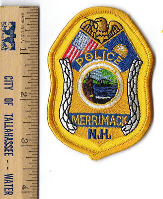 Merrimack (Hillsborough Co.) NH New Hampshire Police badge-style patch - NEW!