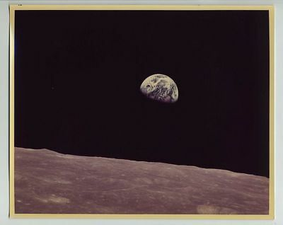 Vintage (8x10) Photograph NASA Apollo 8 Earthrise Moon Exploration Mission wz163