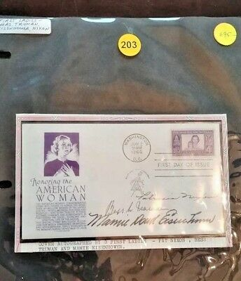 1960 American Woman Cover First Ladies Auto Signed Truman, Eisenhower, Pat Nixon