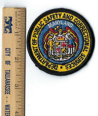 Maryland MD Dept. of Public Safety & Correctional Services hat patch - NEW!