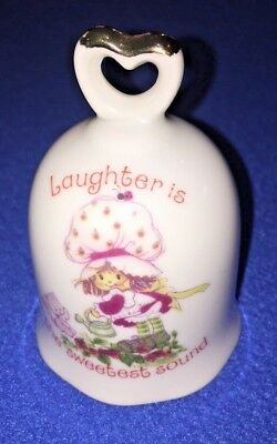 "Strawberry Shortcake ""Laughter is the Sweetest Sound"" Porcelain Bell Vintage"