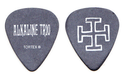 Alkaline Trio Matt Skiba Cross Black Guitar Pick - 2005 Tour