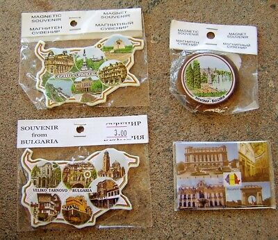 Set of FOUR Unopened, New Condition SOUVENIR MAGNETS from BULGARIA