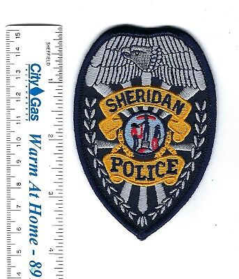 Sheridan (Sheridan County) WY Wyoming Police badge-style patch - NEW!