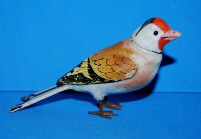 Antique Germany Rare Colorful Paper Mache Putz Bird Candy Container