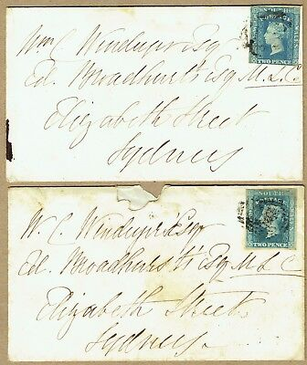 New South Wales 1856-57 covers (2) from same correspondence