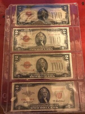 Two Dollar Bill Red Seal 1928 1953 Plus Many More