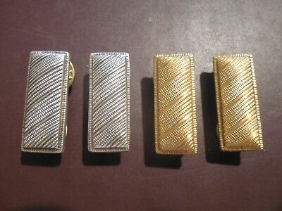 1st 2nd Lieutenant Rank Officer Insignia Collar Hat Pin US Army Military Lot Set