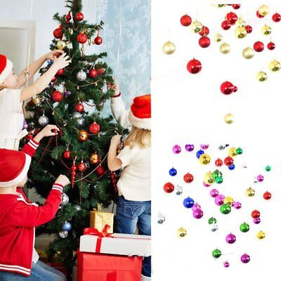 24Pcs Party Ornament Christmas Xmas Tree Ball Bauble Hanging Decorations CU