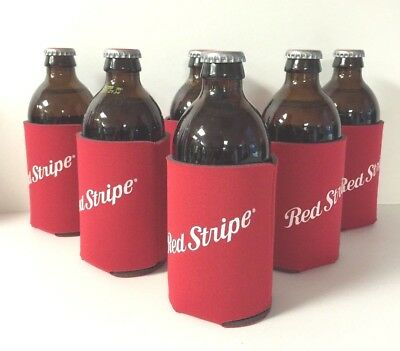 """Red Stripe Bottle Can Koozie /""""RED/""""  Jamaica One Koozie 1 New /& Free Shipping"""