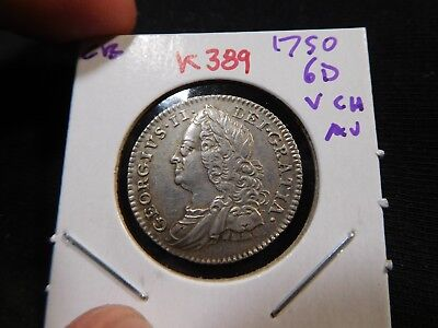 K389 Great Britain 1750 6 Pence Very Choice AU