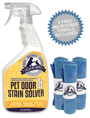 Hypoallergenic Spray Odor & Stain Solver, Urine Eliminator Remover for Dogs/Cats