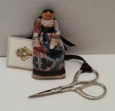 Adorable Vintage Liberty Of London Sewing Companion- Pin Cushion/scissors- Mint!