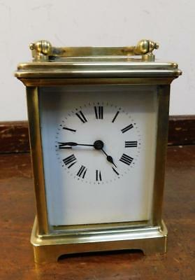 brass case carriage clock