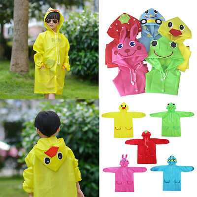 Children Cartoon Rain Coat Kids Rainwear Cute Baby Funny Waterproof Raincoat AU