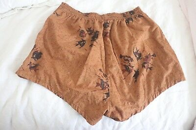 VINTAGE 40/50s Swim Trunks/Shorts Men's SIZE 36-38 Swimming Suit FISH DESIGN