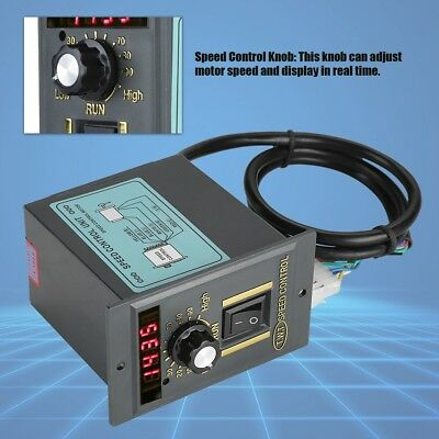 AC220V 50Hz 15-400W Digital Adjustable Stepless Motor Speed Controller 0-1450rpm
