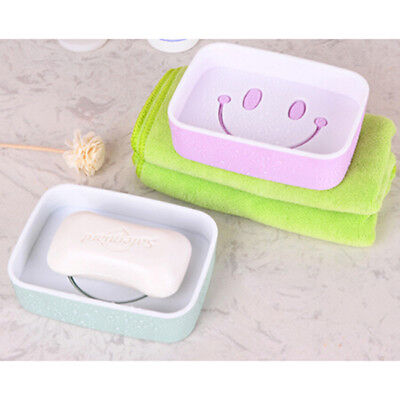 Double Layer Draining Soap Dishes Holder Travel Soap Dish Box Case Bathroom D