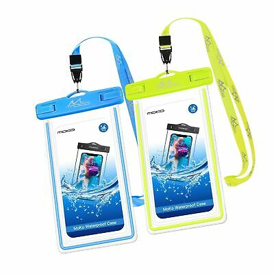 MoKo Waterproof Phone Pouch [2 Pack], Universal Waterproof Cell Phone Case Dr...