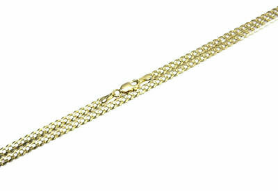 """14k Solid Yellow Gold 3.5mm Cuban Link Chain Necklace Sz 16""""-36"""""""