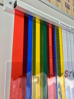 PVC Strip Curtain Door RAINBOW Store Entry Style   900mm wide x 2150mm long