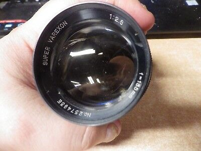 Vintage Camera Lens Super Varexon 1:2.8 1-155Mm
