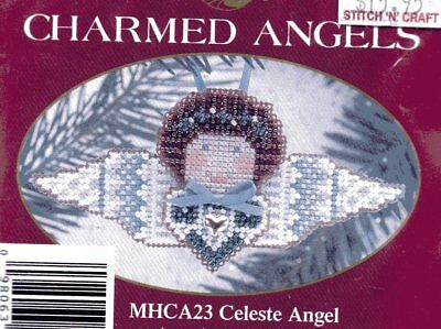 Mill Hill CHARMED ANGELS,   CELESTE ANGEL Beading and Cross Stitch Kit