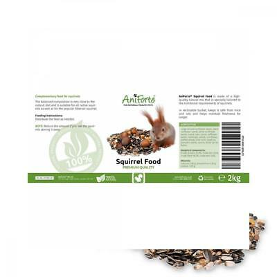 AniForte Squirrel Food Mix 2kg 100% Natural Feed for Squirrels, Chipmunks &...