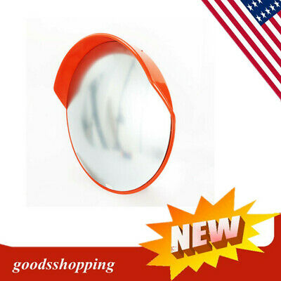 "SECURITY MIRROR 45cm 18"" TRAFFIC DRIVEWAY SAFETY OUTDOOR CONVEX PVC HOT"