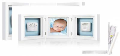 Pearhead Babyprints Newborn Handprint and Footprint Deluxe Desk Photo Frame