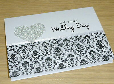 Wedding day card - black and white- gorgeous - handmade card