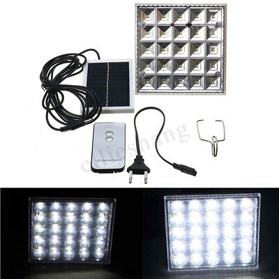 25 LED Solar Powered Camping Light Outdoor Lamp Tent Lantern With Remote