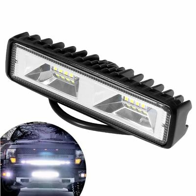 6 inch 48W 16 LED Work Light Flood Beam Bar Car SUV OffRoad Driving Fog Lamps CC