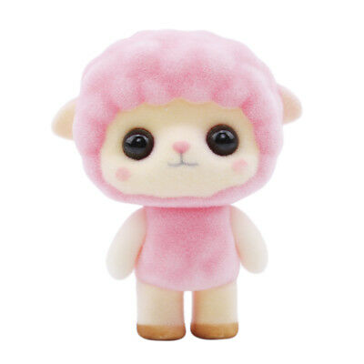 Plastic Flocking Toy Cute Pink Sheep Birthday Gift Creative Gift Plush Doll LT
