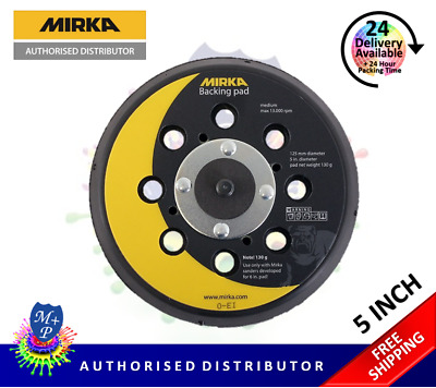 "Mirka CEROS, DEROS, ROS & PROS Backing Pad 125mm (5"") 28 Hole MEDIUM 8292502511"