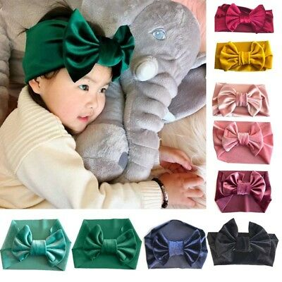 New Kid Girl Baby Toddler Bow Headband Hair Band Accessories Headwear Head Wrap
