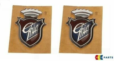 New Genuine Ford Ghia Side Panel Badge Emblem Name Plate Set Pair 2X