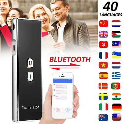 Portable Smart Instant Voice Translator Two-Way 40 Languages Travel Translation