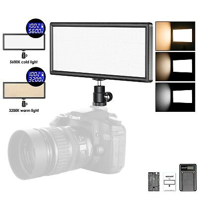 Neewer Bi-color Dimmable LED Video Light with 2600mAh Li-ion Battery and Charger