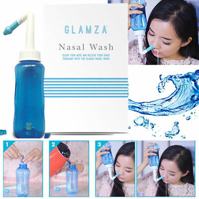 Nasal Pressure Sinus Cleaner Allergy Relief Neti Pot Nose Wash Bottle Hay Fever