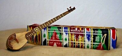 Uyghur Guitar Xinjiang Handcraft Rawap with Decorative Case