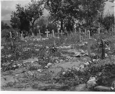 WW 2 - Original Black & White Photograph - 48th Highlanders - Graves in Italy