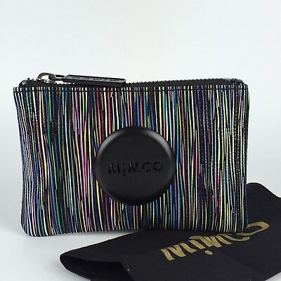 Free Post Mimco Multi Colour Mim Pouch Small Wallet Full Leather Rrp79
