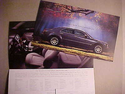 2005 Chrysler 300 Series First And Second Version Introductory Sales Folders NEW