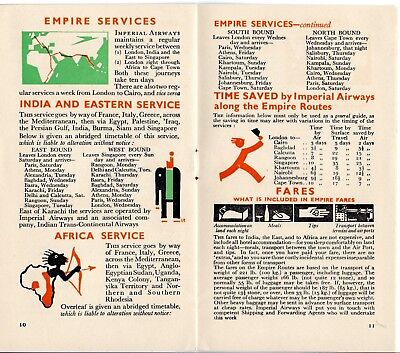 Imperial Airways 1934 Facts Brochure About Imperial Air Travel United Kingdom