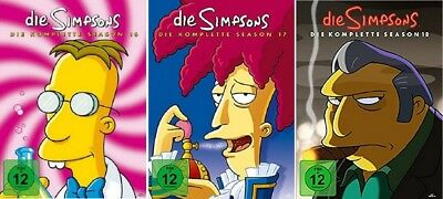 Die Simpsons Staffel 16-18 (16+17+18) DVD Set NEU OVP
