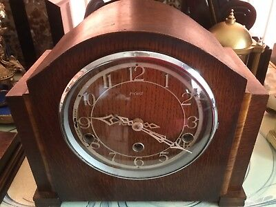 Smiths Enfield Westminster Chimes Art Deco Mantle Clock