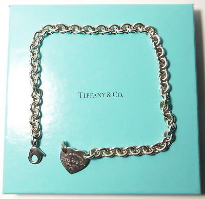 """5380639d4 Authentic Tiffany & Co Sterling Silver Choker Necklace RETURN TO TIFFANY  14.5"""""""